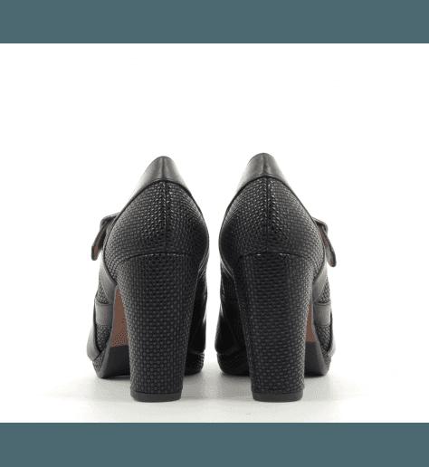 Escarpins en cuir à talons hauts marine 8 cm GLIGO - Chie Mihara
