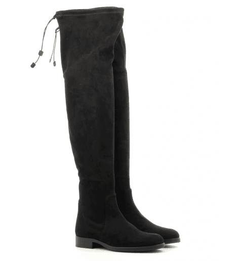 Botte genouillère en velours stretch noir  B2802 - Garrice collection