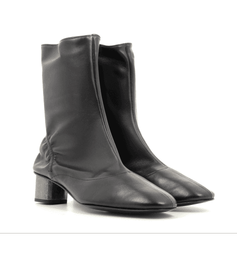 Bottines noires en cuir PLOP- Robert Clergerie