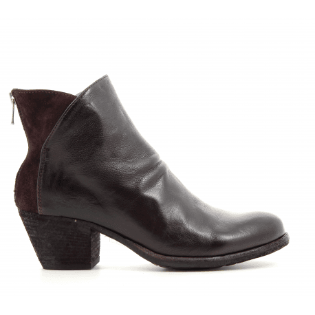 courtes bordeaux en talons cuir Officine à Bottines GISELLE008 7qw1dZO7