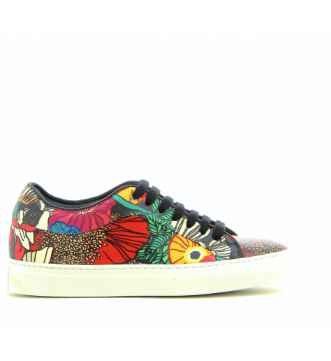 Sneakers en cuir imprimé BASSO GARDEN - PAUL SMITH