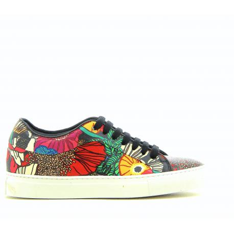 Sneakers en cuir imprimé BASSO GARDEN - PAUL SMITH