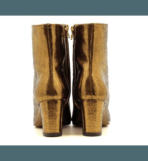 Bottines en cuir bronze - L'Autre Chose