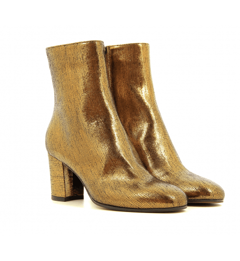 Bottines en cuir bronze - L'Autre Chose
