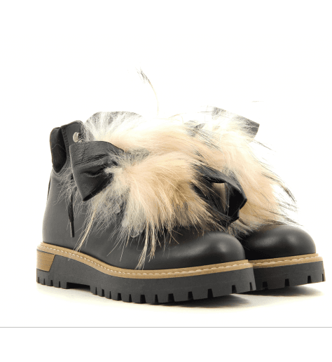 Bottines à lacets en cuir BUGLOSIA- Pokemaoke