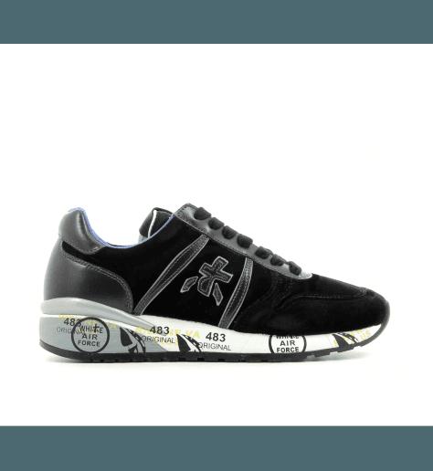 Sneakers plates en velours noir DIANE2634- Premiata