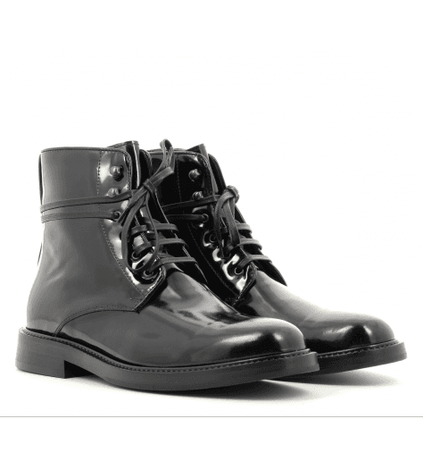 Bottines en cuir vernis noir Chesil - Paul Smith