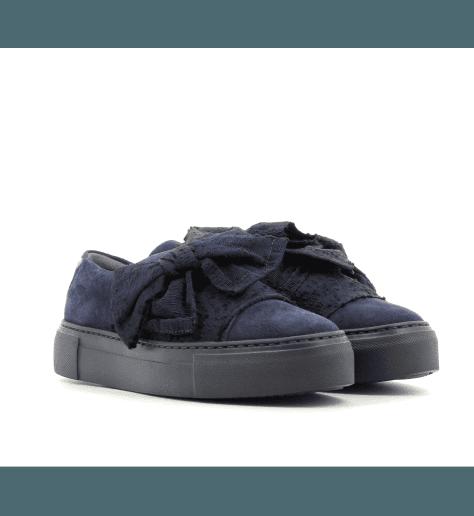 Sneakers en velours marine D925053MA- AGL
