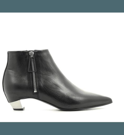 Bottines en cuir noir  6054D- Vic Matié
