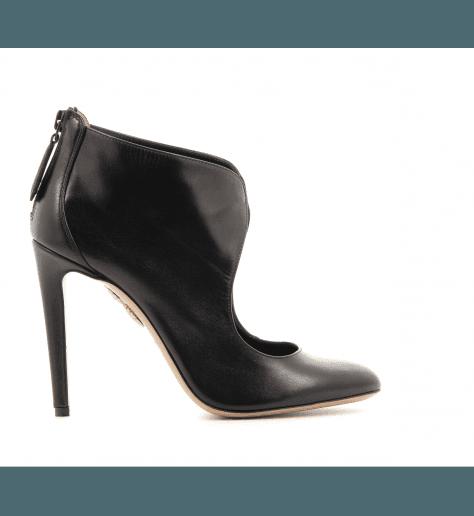 Boots à talons cuir Noir Boots Ella 105 - Aquazzura