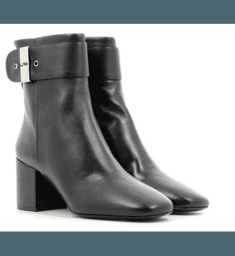 Bottines  en cuir noir à talon - M4561PREMIATA