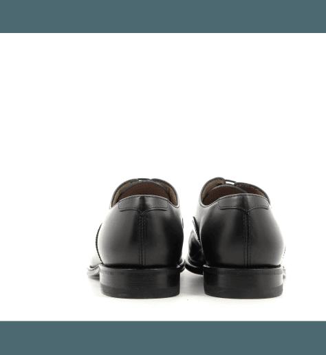 Derbies en cuir glacé noir D008N - Henderson