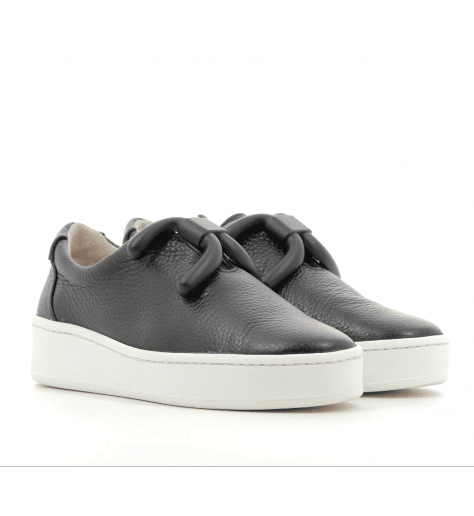 Sneakers en cuir noir KNOT- An Hour And A Shower