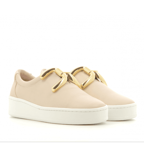 Sneakers en cuir nude  KNOT- An Hour And A Shower