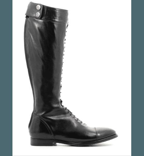 Bottes  en cuir noir URSULA46021 - Alberto Fasciani