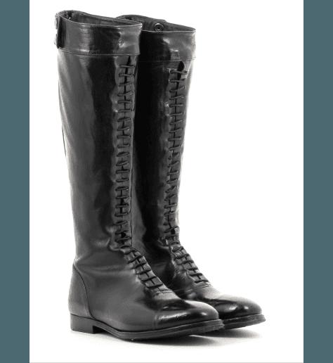 Bottes Cavalière en cuir noir URSULA46021 - Alberto Fasciani