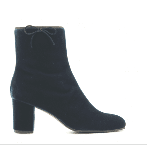 Bottines en velours bleue LDF030BLUE - L'Autre Chose