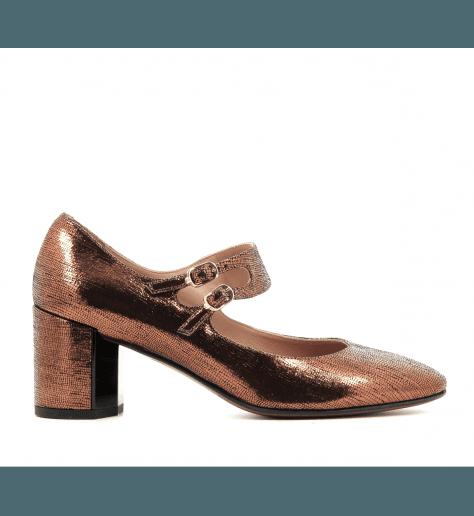 Chaussures en cuir bronze - L'Autre Chose