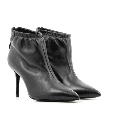 Bottines en cuir noir à talon M4622NERO - PREMIATA