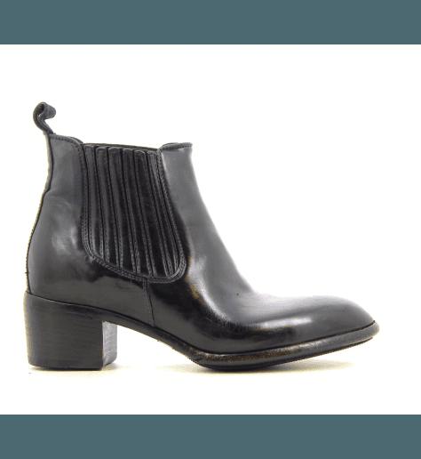 Chelsea boots en cuir marine AP02M - Lemargo