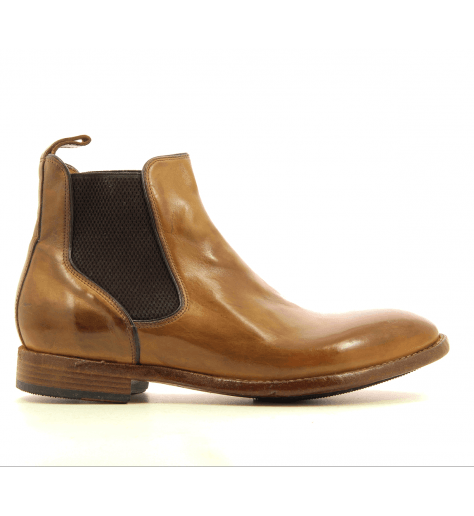 Chelsea boots Homme en cuir camel AC07A2 - Lemargo