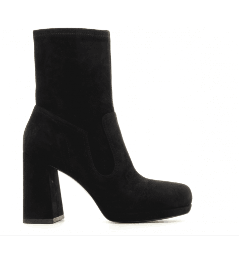 Bottines en veau velours stretch noir Ross  - Marc Jacobs