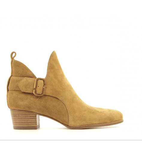 Bottines en suède camel GINGER INTERLOCK1 - Marc Jacobs