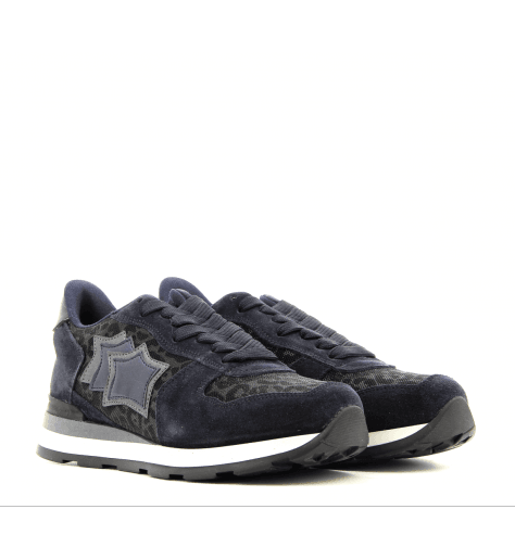 Sneakers en toile et suède Bleu VEGA ANY 81N - Atlantic stars