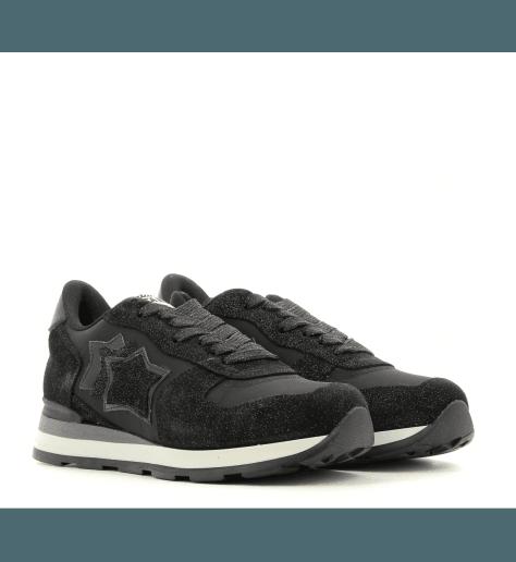 Sneakers en toile et suède noir VEGA GLN 81N - Atlantic stars