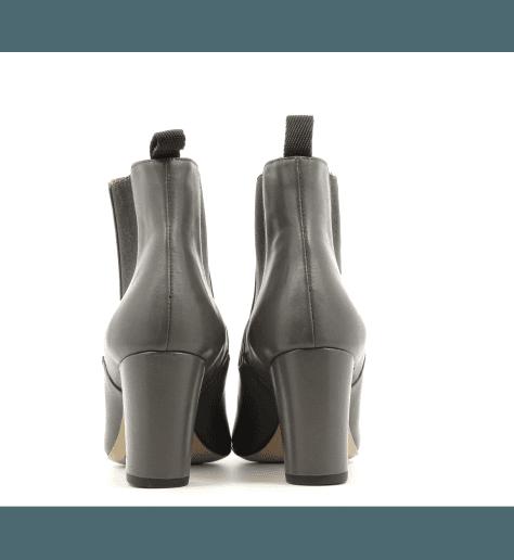 Bottines en cuir gris  GALF N8GR- Avril Gau
