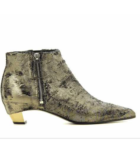 Bottines en cuir bronze  6054DB- Vic Matié