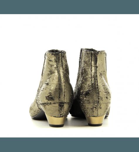 Bottines en cuir bronze  6054DB- Vic Matié