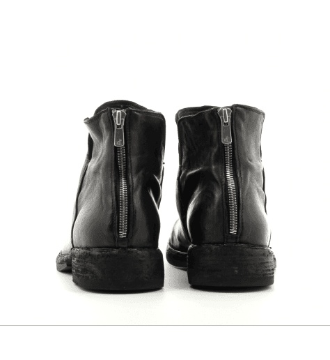 Bottines plates en cuir noir IKON/041 - Officine Creative