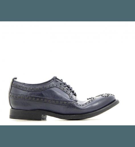 Derby en cuir bleu marine D53253 - Sartori Gold