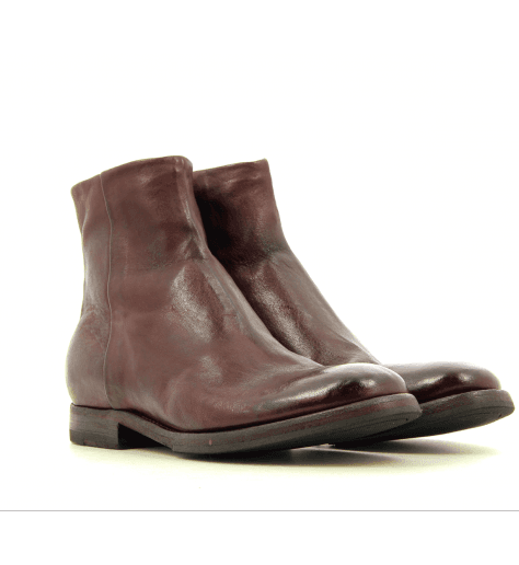 Bottines plates en cuir Bordeaux D82490Bo - Sartori Gold