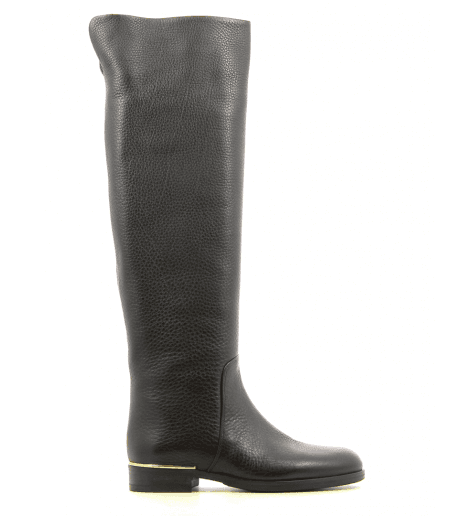 Bottines noires en cuir plates B2819 - Garrice collection