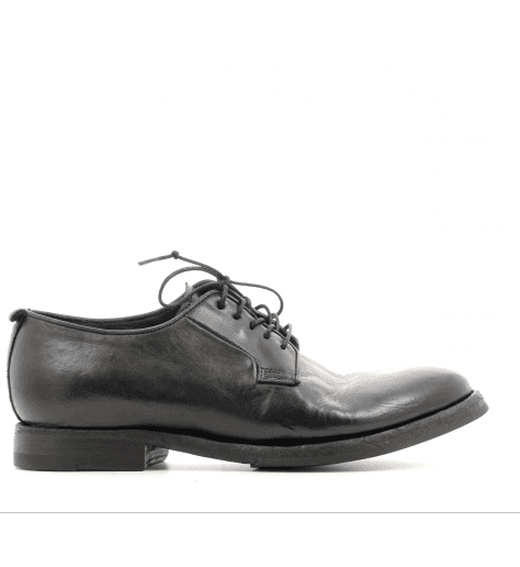 Derbies en cuir noir D52853 - Sartori Gold