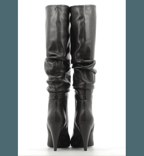 Bottes noir en cuir  CO7249FN - Garrice Collection