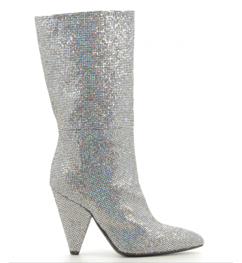 Bottes en glitter argent  CO7246VF - Garrice Collection