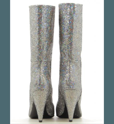 Bottes en glitter argent  CO7246VF - Garrice Collection