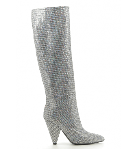Bottes en glitter argent  CO7248VF - Garrice Collection