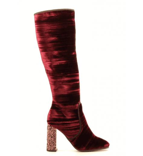 Bottes en velour bordeaux 4590050 Deimille - Garrice Collection
