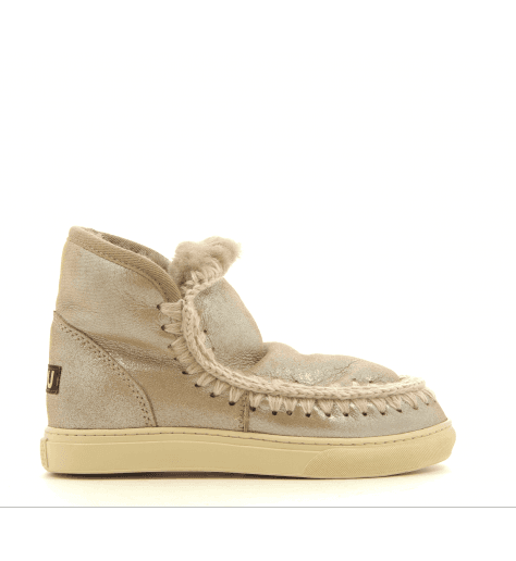 Bottines fourrées MINI ESKIMO SNEAKERS NUDE - MOU