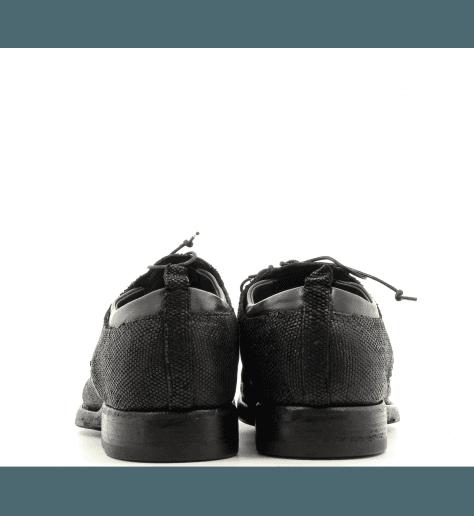 Derbies Homme plates en cuir noir 510041 - Sartori Gold