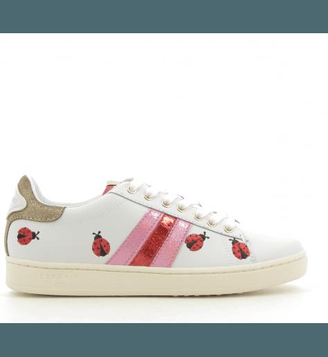 Sneakers Blanche et rose JCONNORS LADYBUGS - Serafini