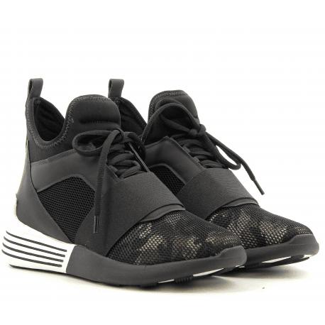 Sneakers neoprene  militaire BRAYDINBLACK/KAKI- Kendall+Kylie