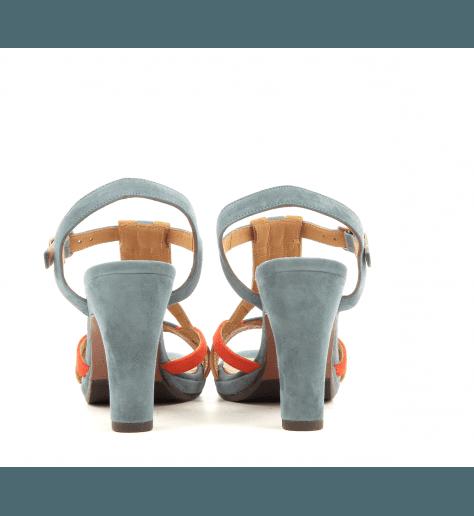 Sandales tricolores à talons AKENU - Chie Mihara