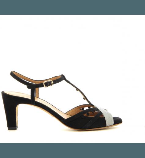 Sandales noires à petits talons KENYA - Chie par Chie Mihara
