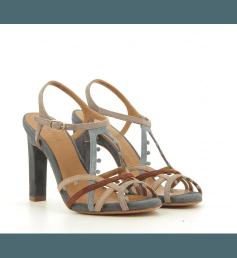 Sandales en daim nude à talons hauts SATILE - Chie Mihara