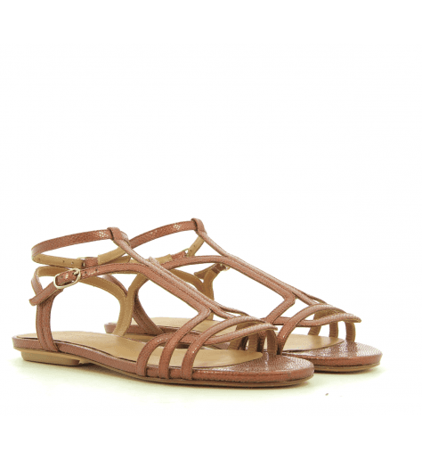 Sandales plates bronzes YAEL - Chie par Chie Mihara